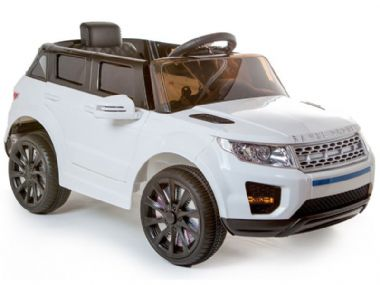 Kids 12v White Range Rover Evoque Toy Jeep Replica | Sit & Ride-In Car Battery Powered